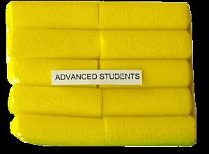 Act Fast Schaumstoffstifte für Fortgeschrittene, gelb (10)