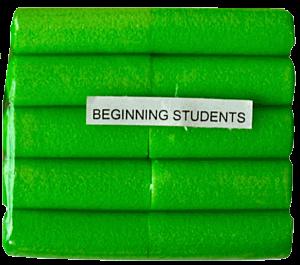 Act Fast Schaumstoffstifte für Anfänger, grün (10)