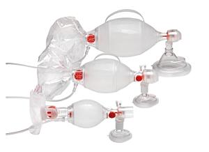 Ambu SPUR II mit Druckbegrenzungsventil und Maske, Pädiatrie Gr. 0 + 1