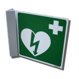 DefiSign AED-Symbol auf quadratischer Platte